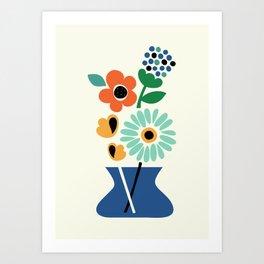 Floral Time Art Print