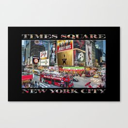 Times Square II (widescreen on black) Canvas Print
