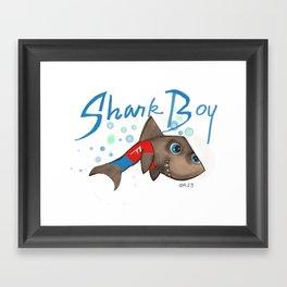 SHARK BOY Framed Art Print