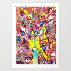 Mind mash up Art Print