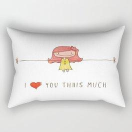 I love you girl Rectangular Pillow