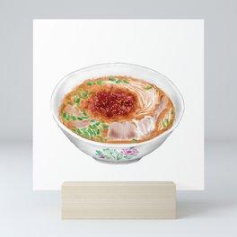 Watercolor Illustration of Chinese Cuisine - Guizhou Mutton Rice Noodle   贵州羊肉粉 Mini Art Print