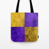 lakers Tote Bags featuring LA-kers by Ramo
