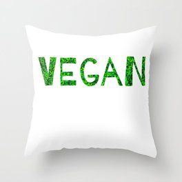 Vegan Quote Throw Pillow