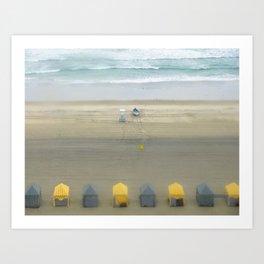 Little Cabanas Art Print