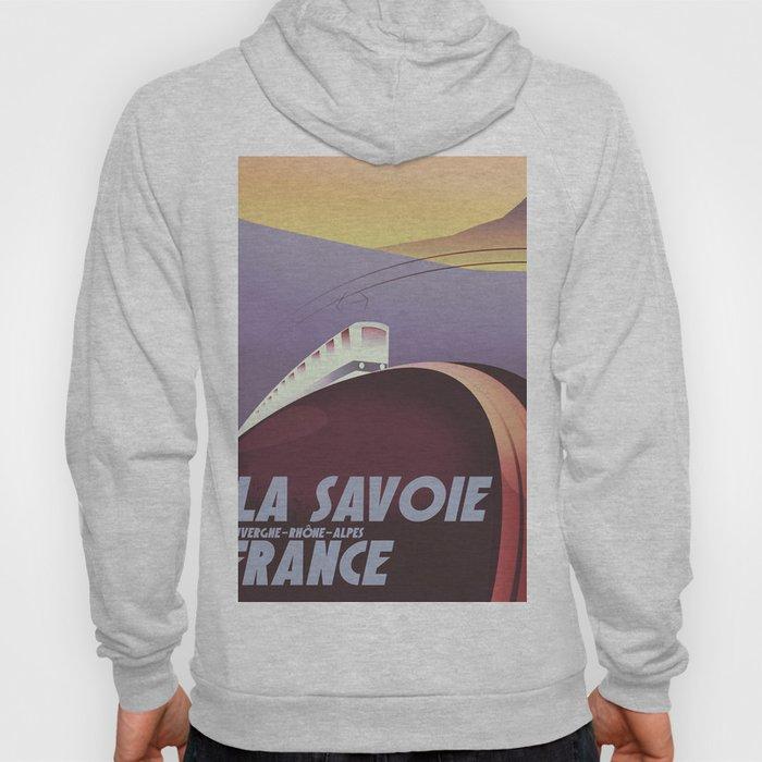Savoy France train poster Hoody