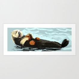 Sea Otter (c) 2017 Art Print