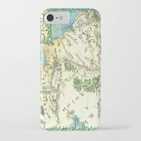 middle earth iPhone & iPod Cases featuring Middle Earth map by Ioreth