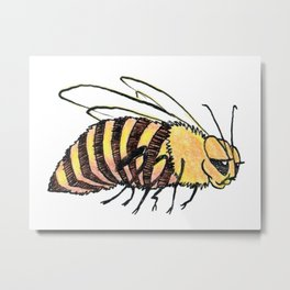 Chubby Bee Metal Print