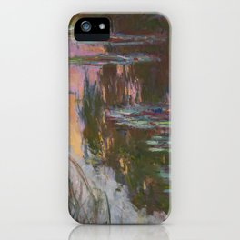 Water Lilies - Setting Sun by Claude Monet iPhone Case
