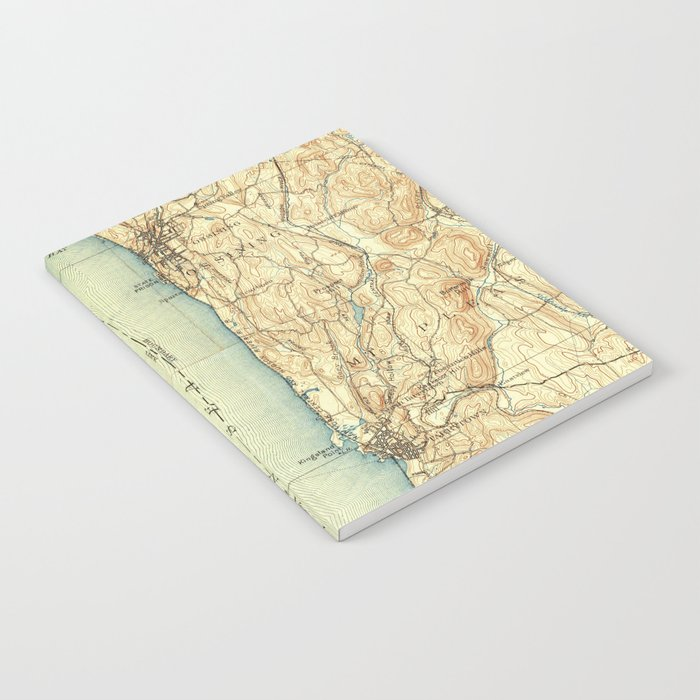 Vintage Map of Tarrytown NY & The Hudson River Notebook by