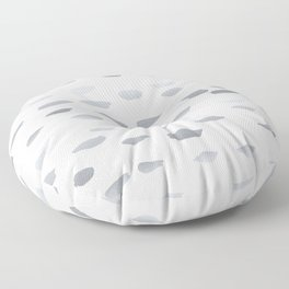 Silver Paint Blotches  Floor Pillow