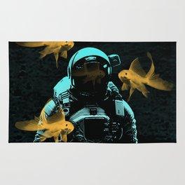astronauts and goldfish Rug