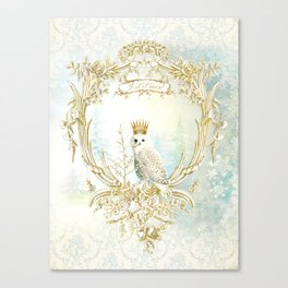 Owl Let it Snow Canvas Print