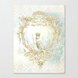 Owl Let it Snow Canvas Print