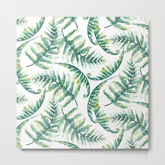 Woodland Ferns Metal Print