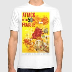 Attack of the 50 Inch Fraggle MEDIUM White Mens Fitted Tee