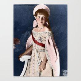 Anastasia Nikolaevna - 1911 Colorized Poster