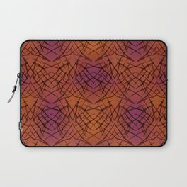 Brown red pattern . Laptop Sleeve