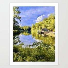 The Mirrored Lake of Silver Dreams Art Print