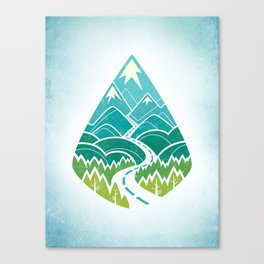 The Road Goes Ever On: Summer Canvas Print