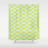 nintendo Shower Curtains featuring Nintendo .lime by guapa.