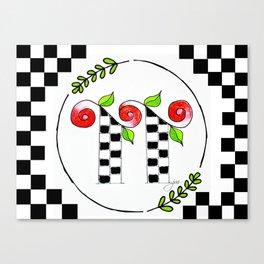 TT monogram Canvas Print
