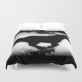 Western-look Galloping Horse Silhouette Duvet Cover