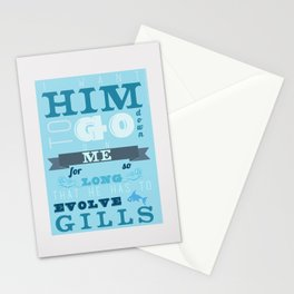 Evolving Gills Quote Stationery Cards