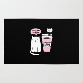 Meow coffee cat Rug