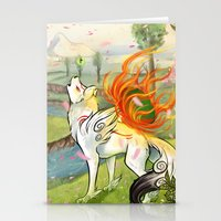 okami Stationery Cards featuring Okami Amaterasu by Keshi