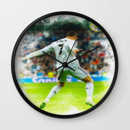 Cristiano Ronaldo celebrates after scoring Wall Clock