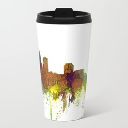 Des Moines, Iowa Skyline SG - Safari Buff Travel Mug