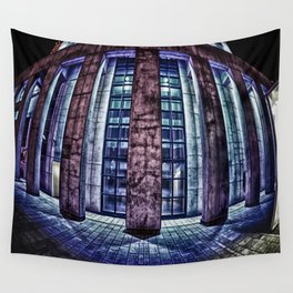 Montreal Architecture - Fisheyes Building HDR Wall Tapestry