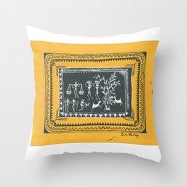 Goats (Silo Tading) Throw Pillow