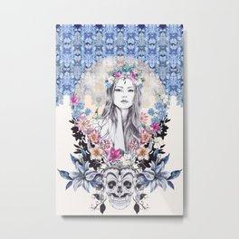 Topeng Metal Print