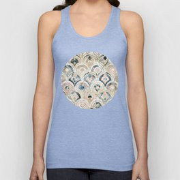 Art Deco Marble Tiles in Soft Pastels Unisex Tank Top