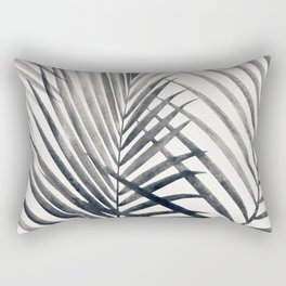 Black and White Palms Rectangular Pillow