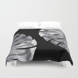 Silver blood Duvet Cover