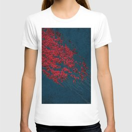 vintage red leaves T-shirt