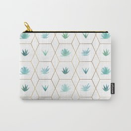 Geometric Succulents Carry-All Pouch
