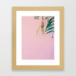 Pink / Green Framed Art Print