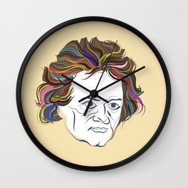 Beethoven (info poster) Wall Clock