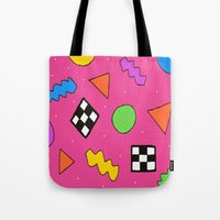 80s Tote Bags featuring 80s Print by The POP Factory