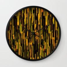 vertical brush orange version Wall Clock