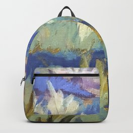 Dreamy Abstract Flowers Painting Backpack