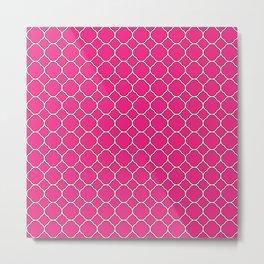 Rose Pink Clover Pattern Metal Print