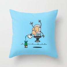Robot 5-9 Throw Pillow