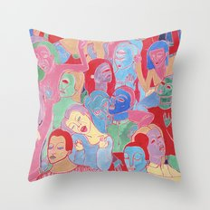 Alien Party Hard Throw Pillow