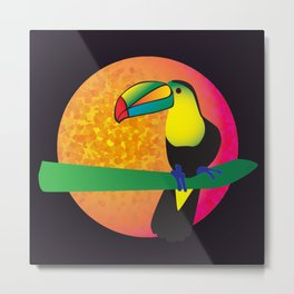 Toucan - Black Metal Print